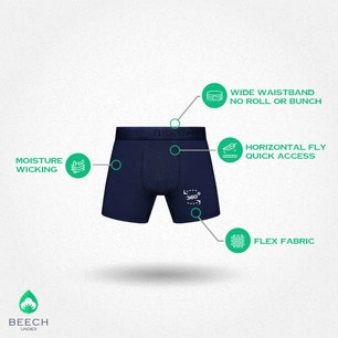 Midnight Blue 3 Pack MicroModal Boxer Briefs