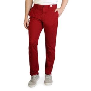 Red Zipper Regular Fit Trouser