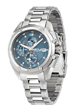Sky-blue Dial Chronograph Stainless Steel Watch