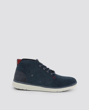 Blue Ygora Perforated Casual Lace Up