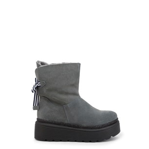 Grey Suede Space Ankle Boots