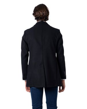 Black Two Button Long Sleeve Coat