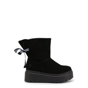 Black Suede Space Ankle Boots