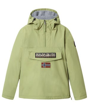Green Hooded Embroidered Jacket