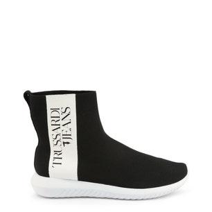 Round Toe Elastic High Top Sneakers