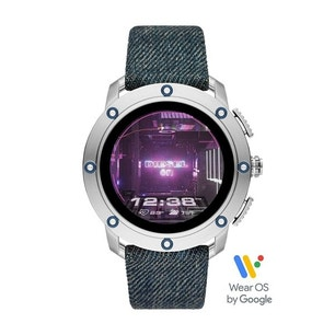 Leather Denim Strap Touch Screen Smart Watch