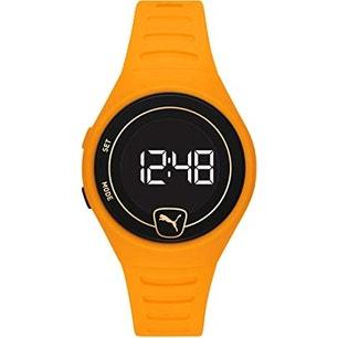 Forever Faster Lcd Orange Polyurethane Watch