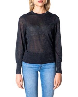 Black Long Sleeve Cuff Knitwear