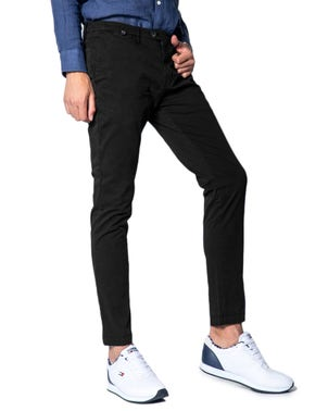 Button Zipper Slim Fit Chinos Trouser