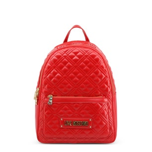 Red Quilted Sole Pocket Back Pack
