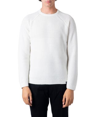 White Round Neck Long Sleeve Knitwear