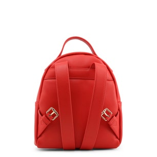 Red Single Zip Back Pack