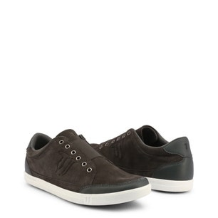 Grey Elastic Top Slip On Sneakers