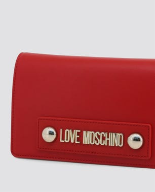 Red Studs Leather Bag