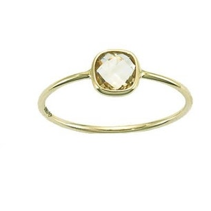 Gold Square Brioletter Cut Ring