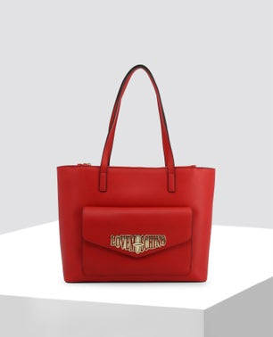 Red Front Pocket Shopper Bag