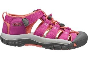Pink Velcro Textile Low Outdoor Sandals