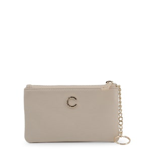 Tan Vera Leather Zipper Wallet