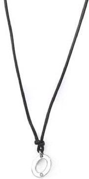 Circle Silver Tone Pendant Necklace