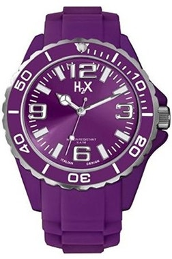 Purple Dial Silicone Strap Analog Watch