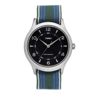 Fabric Multi Strap Black Dial Analog Watch