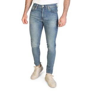 Denim Wash Button Slim Fit Jeans