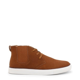 Brown Suede Elastic Lace Up Shoes