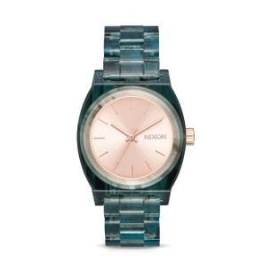 Rubber Strap Gold Dial Analog Watch