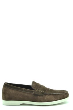 Two Tone Suede Slip On Moccassin