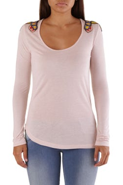 Long Sleeve Beads Knitted Top