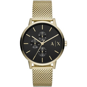 Analog Black Dial Stainless Steel Watch