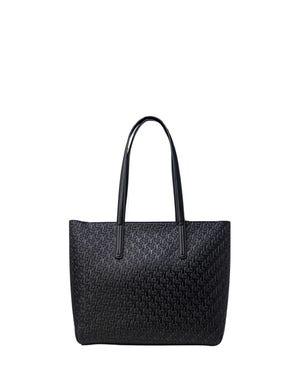 Leather Zipper Handle Shoulder Bag