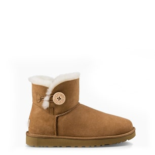 Suede Fur Button Ankle Boots