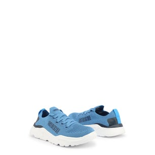 Blue Elastic Lace Up Kids Sneakers