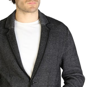 Black Button Long Sleeve Blazer