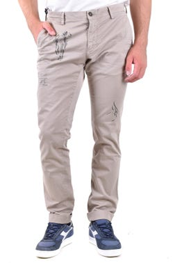 Printed Button  Zip Trousers