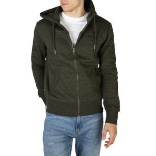 Green Hoodie Long Sleeve Pocket Sweatshirt
