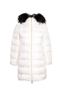 Quilted Fur Hooded  Jacket