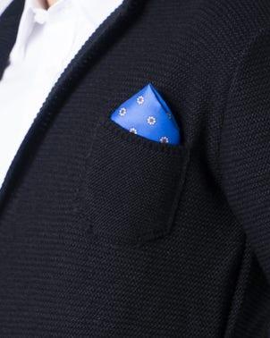 Black Collar Button Long Sleeve Blazer