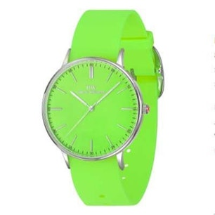 Green Rubber Strap Round Dial Analog Watch