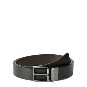 Leather Buckle Reversible Belt