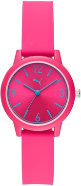 Pink Silicon Strap Analog Watch