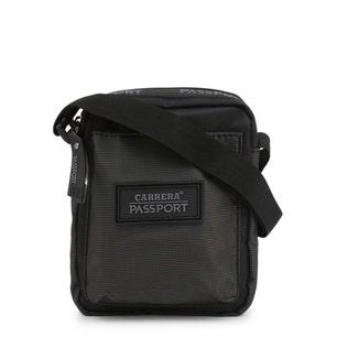 Black Zipper Passport Shoulder Bag
