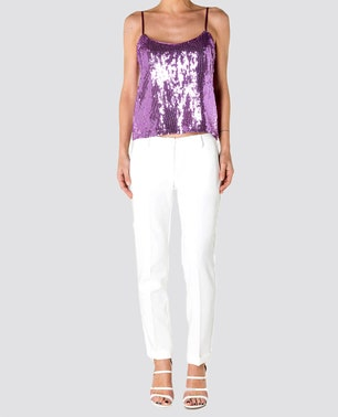 White Casual Chic Pants