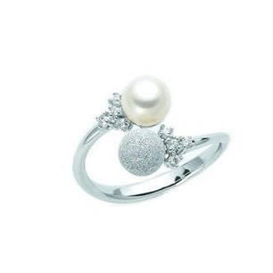 Mother Pearl Silver Ring