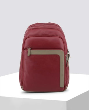 Red Contrast Panel Backpack