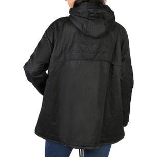 Hooded Drawstring Long Sleeve Jacket