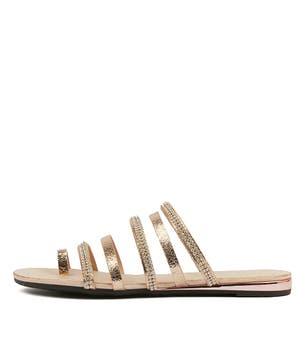 Rose Gold Sharday Flat Sandals