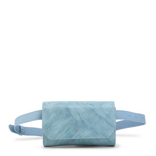 Sky Blue Funny Snake Clutch Bag