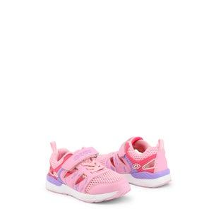 Pink Velcro Strap Kids Sneakers